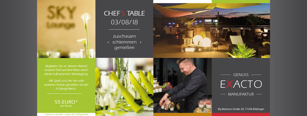 Chefs Table - Freitag, 05.02.2021